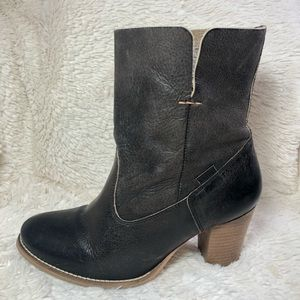 Levi's Levi Strauss & Co. Mid Calf Brown Heel Boot